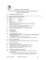 MATERIAL SAFETY DATA SHEET ADM SOY PROTEIN ISOLATE ...