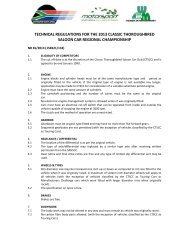 technical regulations for the 2013 classic thoroughbred saloon car ...