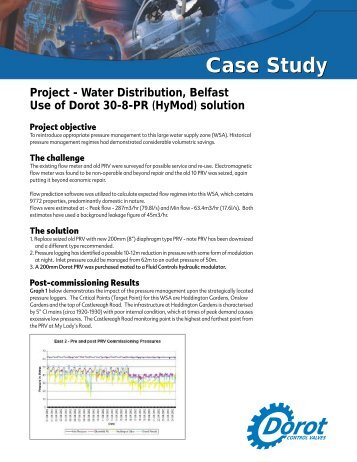 Case Study - Dorot Control Valves