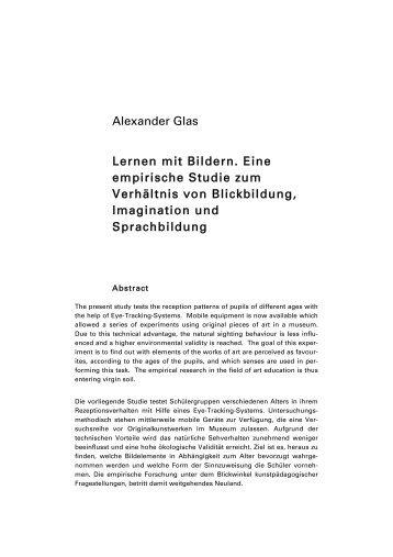 Alexander Glas Lernen mit Bildern. Eine empirische Studie zum ...