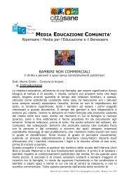 MEDIA EDUCAZIONE COMUNITA' - Comune di Modena