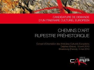 CHEMINS D'ART RUPESTRE PRÉHISTORIQUE
