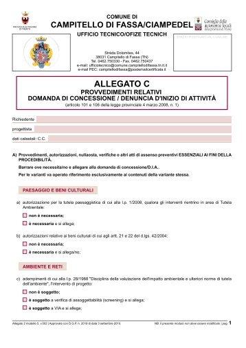"""Download """"File di Modulo Allegato 2 modello 5, v.002 """"Allegato C"""