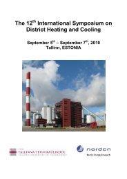 The 12 International Symposium on District Heating ... - Dhc12.ttu.ee