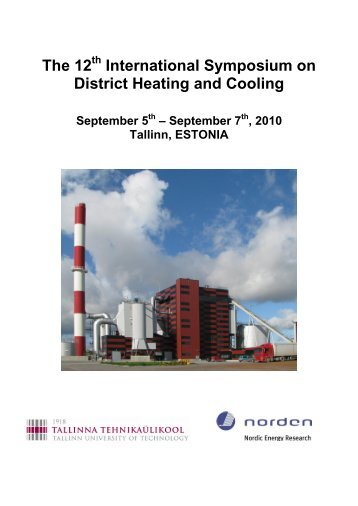 The 12 International Symposium on District Heating ... - Dhc12.ttu.ee