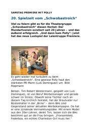 Vorbericht - Theatergruppe Schwobastroich eV