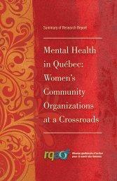 Mental Health in Québec - Réseau québécois d'action pour la santé ...