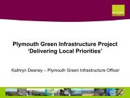 Plymouth Green Infrastructure Project 'Delivering Local Priorities'