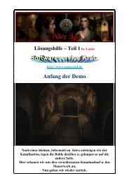 Lockes deutsche bebilderte Komplettlösung - Teil 1 - Gamepad.de