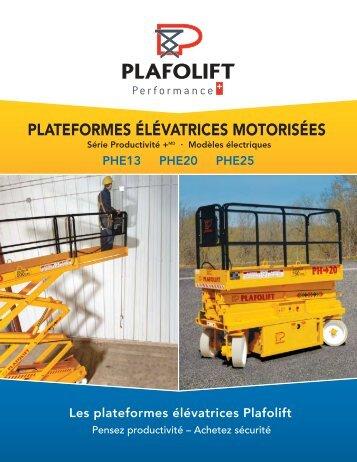 Platesformes élevatrices motorisées électriques - Dickner Inc.