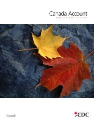 Canada Account Annual Report 2011-2012 - Export ... - EDC