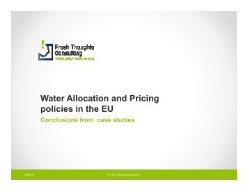 Water Pricing - Ecologic Events