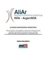 Bases y Reglamento ALIAR - Fundación ArgenINTA