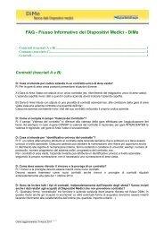 FAQ - Flusso Informativo dei Dispositivi Medici - DiMe - Saluter