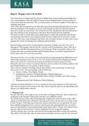 Report: Mogopa visit 9./10.10.2010