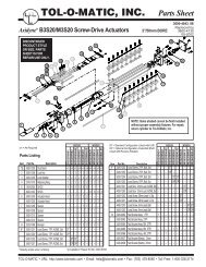 TOL-O-MATIC, INC. Parts Sheet - You are now at the Down-Load ...