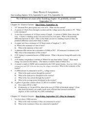 Chapters 18 & 19 - Physics @ CSU Stanislaus
