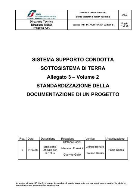 SISTEMA SUPPORTO CONDOTTA SOTTOSISTEMA DI ... - Trenitalia