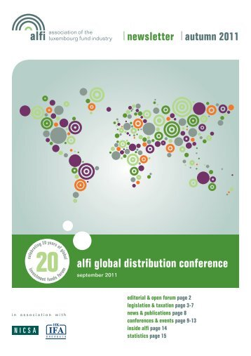 newsletter autumn 2011 alfi global distribution conference