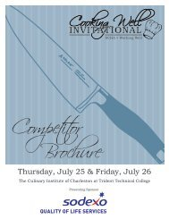 Cooking Well Invitational Competitor Brochure - South Carolina ...