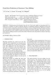 Form Error Prediction of Gearcases' Face Milling - the ESAFORM ...
