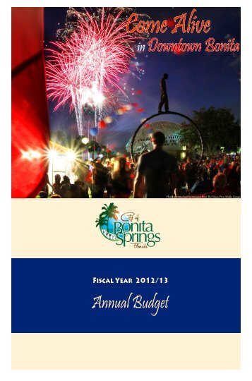 2012-2013 Budget - City of Bonita Springs