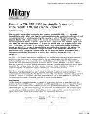 Extending MIL-STD-1553 bandwidth - Military Embedded Systems