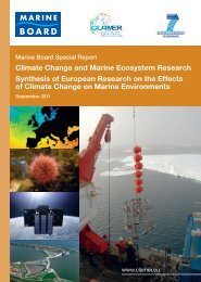 Climate Change and Marine Ecosystem Research Synthesis of ...