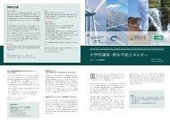 2013年春期再生可能エネルギー講座パンフレット - UNU-ISP