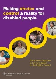 Making choice and control a reality for disabled people - Office for ...