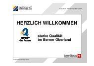 Präsentation Q-Gütesiegel - Volkswirtschaft Berner Oberland