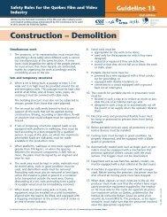 Construction - Demolition - CSST
