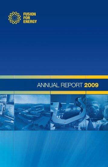 F4E Annual Report 2009 - Fusion For Energy - Europa