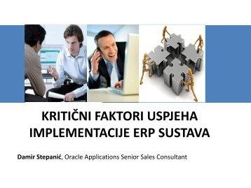 kritični faktori uspjeha implementacije erp sustava - HrOUG