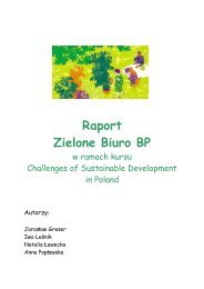 Raport Zielone Biuro BP - Fundacja Sendzimira