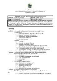 Disciplina: Motores de Combustão Interna e seus Sistemas Vigência ...