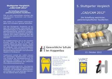 5. Stuttgarter Vergleich - Gewerblichen Schule Im Hoppenlau Stuttgart