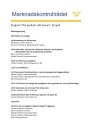 "Program ""Din produkt, ditt ansvar"", 25 april"