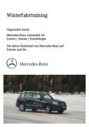 Winterfahrtraining 2010 in Ambri - Mercedes-Benz Automobil AG