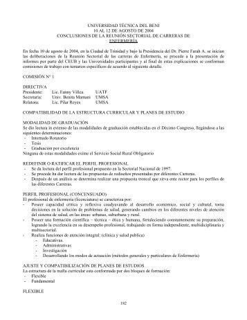 UNIVERSIDAD TÉCNICA DEL BENI 10 AL 12 DE AGOSTO DE ...