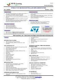 Formation microcontroleur STM32 F1 F2 Cortex M3
