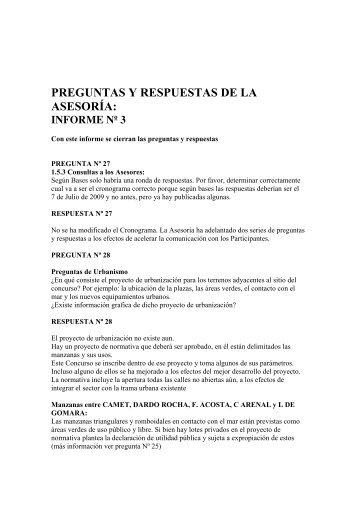 PREGUNTAS Y RESPUESTAS DE LA ASESORÍA: - Sociedad ...