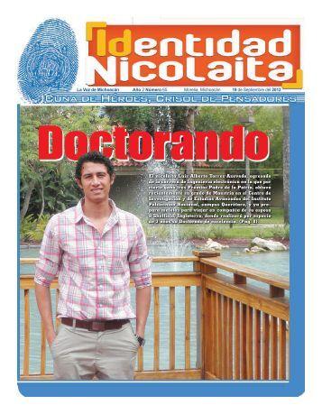El nicolaita Luis Alberto Torres Azevedo, egresado de la carrera de ...