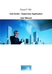 Forum™ 700 Call Center - Supervisor Application User Manual ...