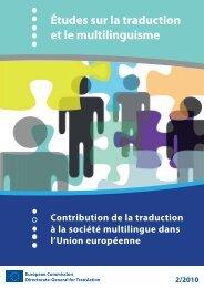 Études sur la traduction et le multilinguisme - EU Bookshop - Europa