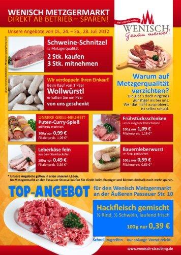 WENISCH METZGERMARKT - Wenisch Straubing ::: Stadthotel