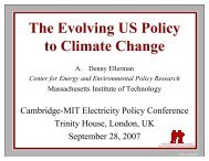 The Evolving US Policy to Climate Change - Electricity Policy ...
