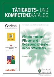 TÄTIGKEITS- und KOMPETENZkatalog - Land Steiermark