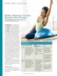 BOSU Balance Trainer Rounds Out Pilates - Idea