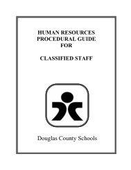 Reference Checks - Douglas County School District
